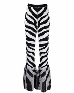 斑马纹伞形打底裤