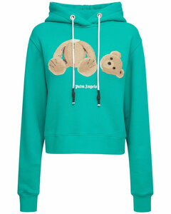 Lvr Exclusive Bear Fitted Cotton Hoodie