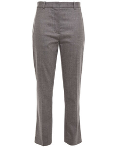 Woman Mélange Wool-blend Twill Tapered Pants