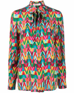 Glossy quilted nylon crop down jacket