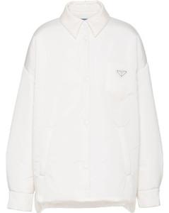 Re-Nylon padded shirtjacket