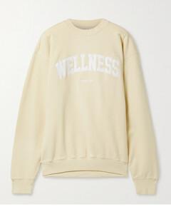 Wellness Embroidered Cotton-jersey Sweatshirt