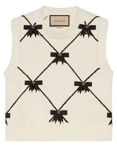 GG Bows knitted sleeveless vest