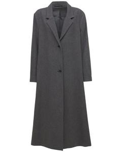 Soft Wool Long Coat W/ Slits