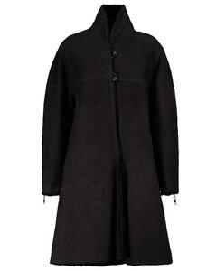 Abazoe羊毛皮大衣
