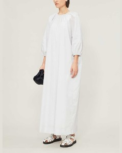 Theo striped cotton maxi dress