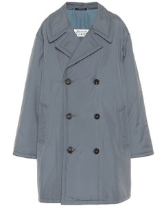 Double-breasted puffer coat