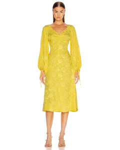 Sofia Dress in Floral,Yellow