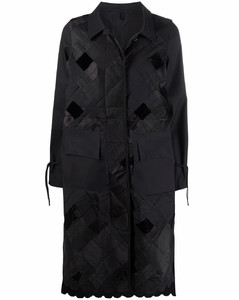 菱纹补丁设计外套