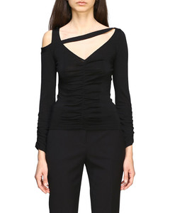 Carango v-neck sweater with asymmetrical cuts