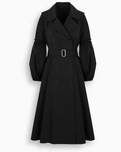 Black Empoli single-breasted trench coat