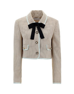 Check Cropped Jacket