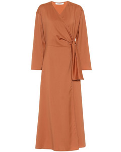 Ladino virgin wool midi wrap dress