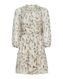 Printed Gauze Mini Dress