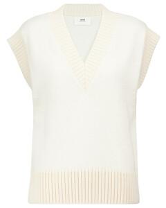 Wool-blend V-neck sweater vest