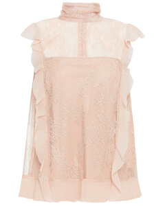 Redvalentino Woman Ruffled Corded Lace Top