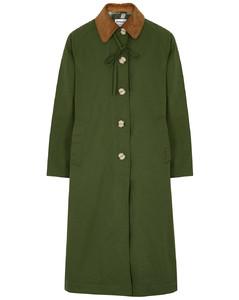 Jackie green cotton-blend jacket