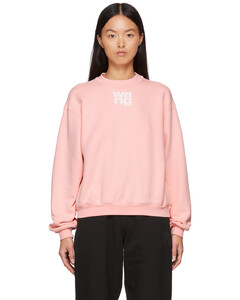 粉色Puff Logo Structured套头衫