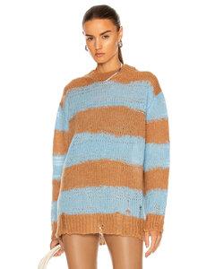 Kalia Sweater in Tan,Baby Blue