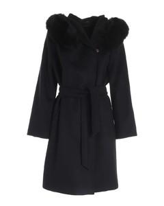 Mango black coat with fur