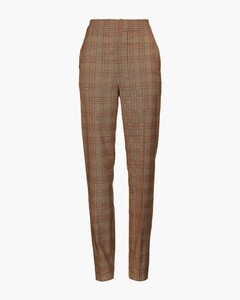 Woman James Prince Of Wales Checked Woven Tapered Pants