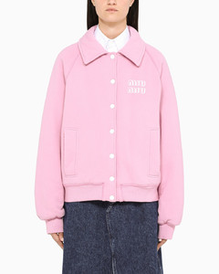Pink Miu Miu League sweatshirt