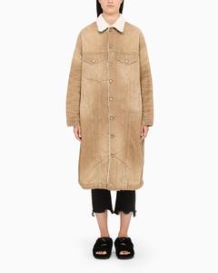 Beige Lyle parka coat