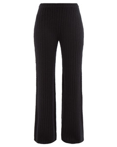 Miles ribbed cashmere-blend boucléflared trousers