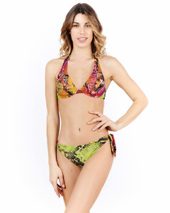 Double-breasted Madras-check wool trench coat