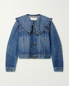 Ruffled Organic Denim Jacket