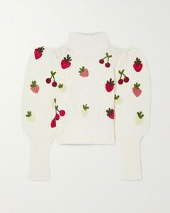 Reese Appliquéd Wool-blend Sweater