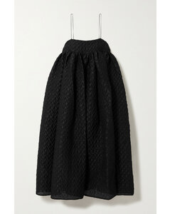 Edition Beth Linen-blend CloquéMidi Dress