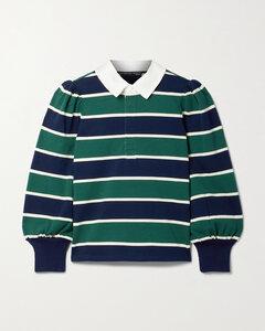 Presto Striped Cotton-jersey Polo Shirt