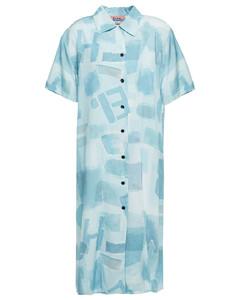 Woman Printed Twill Shirt Dress