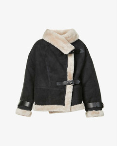 Darling shearling and leather jacket