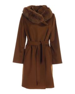 Mango coat in brown