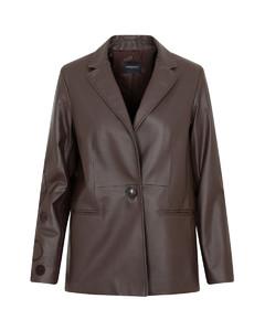 Wrinkled Faux Leather Midi Skirt