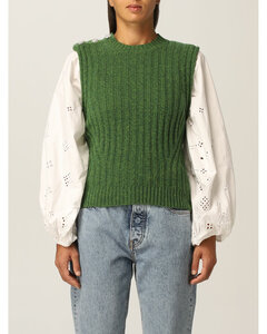 vest in recycled wool blend