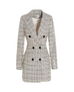'embellished Check' Dress