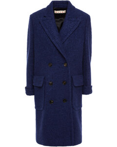 Woman Double-breasted Wool-blend BoucléCoat