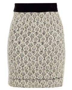 Woman Jazz Velvet-trimmed Metallic Jacquard Mini Wrap Skirt