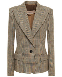 Woman Prince Of Wales Checked Wool Blazer