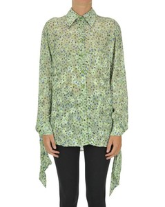 Embroidered viscose shirt