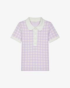 【周锡京同款】Micro jacquard-knit polo shirt