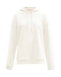 Software recycled cotton-blend hooded sweatshirt