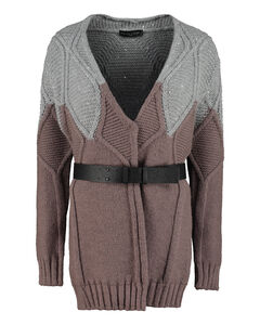 Leather Down Filled Long Jacket Black