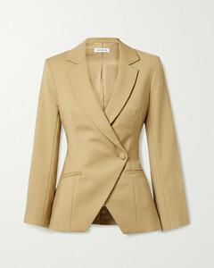 Ade Asymmetric Double-breasted Wool-blend Blazer
