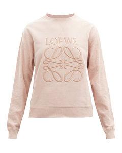 Anagram-embroidered cotton-jersey sweatshirt