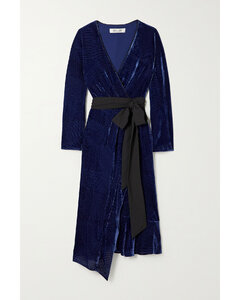 Tulisa Devoré-velvet Wrap Dress