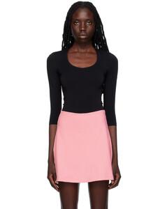 Wool turtleneck midi dress